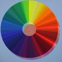 2020 The Spectral Wheel of Colors: The Moon (Daytime Photo)